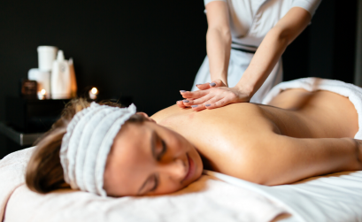 Female receiving a massage from massage therapist