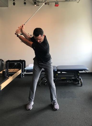 Golf swing demonstration