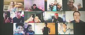 group of people on video chat