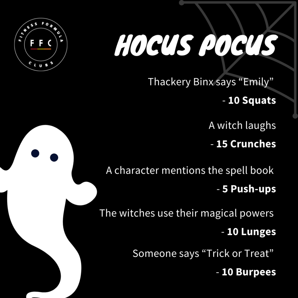 Black and white image with workout. Workout is also explained below the image.