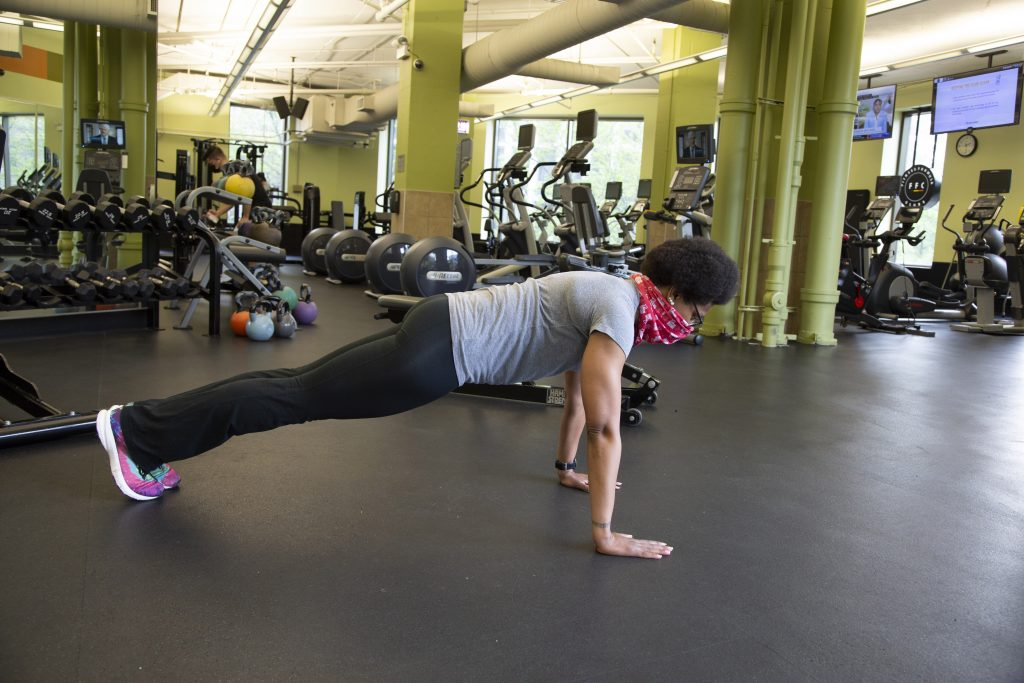 Joy Miles Performing A Plank - Core Workout For Beginners